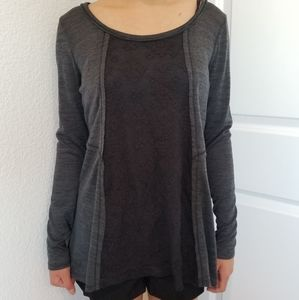 Maurices Grey Lace Top